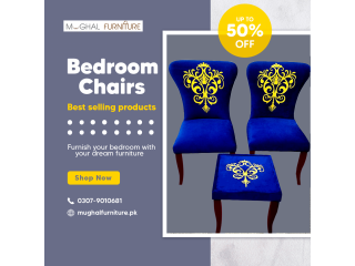 Bedroom Chairs with Table | Mughal Furniture